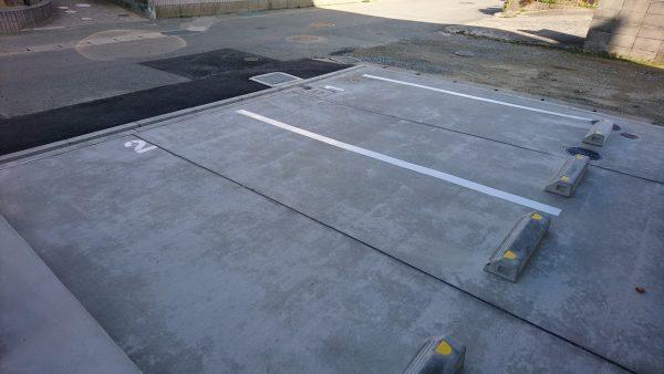 古賀市 アパート駐車場白線塗装
