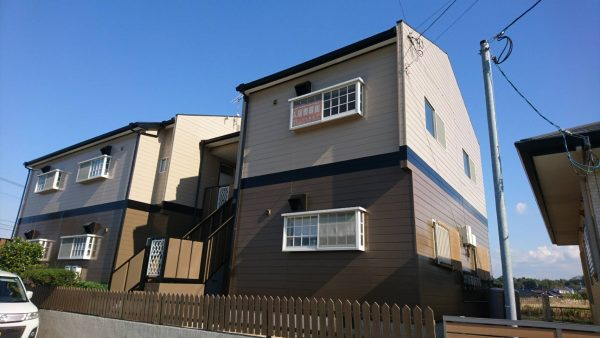 大牟田市 アパート1棟 外壁塗装